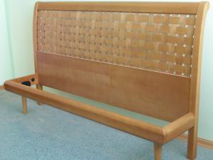 Кровать 1 Ольха плетёнка черешня